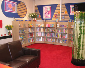 A photo of the school library